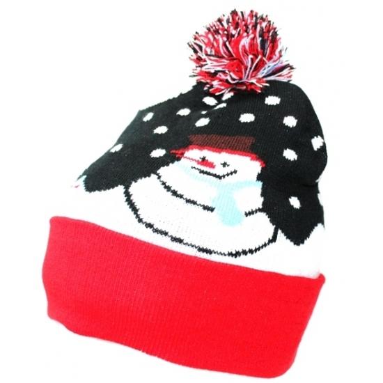 kerstkado-muts-met-sneeuwpop