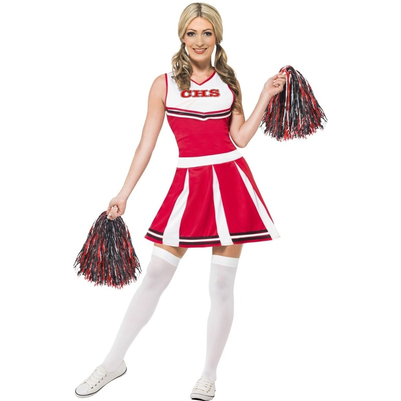 rode-cheerleader-outfit-dames