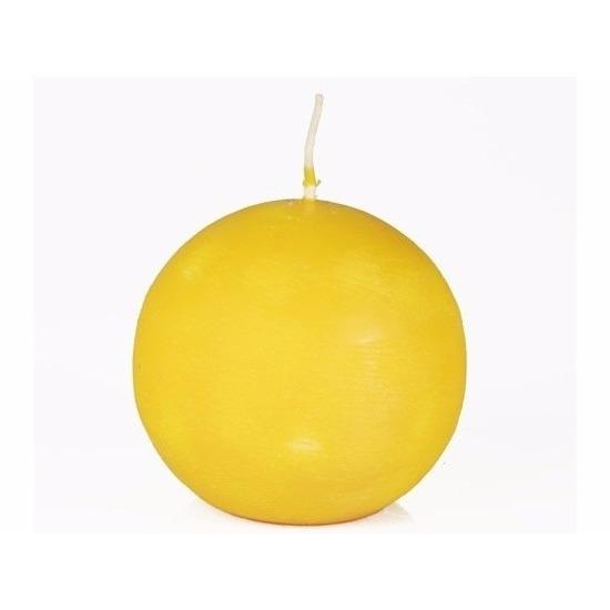 ronde-kaars-geel-8-cm