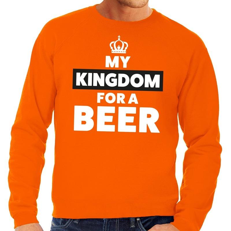 Oranje Kingsday met kroon shirt heren in oranje artikelen