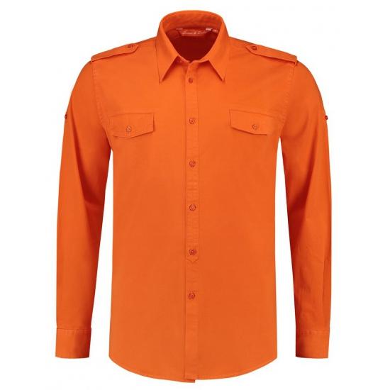 Overhemd Voor Hem.Bodyfit Overhemd Oranje Voor Hem Overhemden Oranje Fanshop Nl